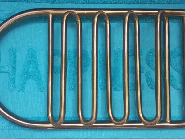 Покраска полотенцесушителя под бронзу