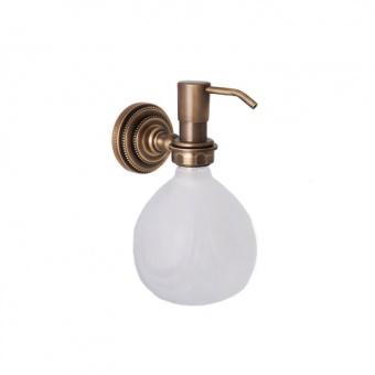 Дозатор для жидкого мыла настенный Versace (бронза)
