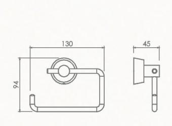 Держатель для туалетной бумаги без крышки Welle (хром)