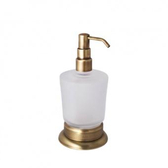 Дозатор для жидкого мыла настольный Versace (бронза)