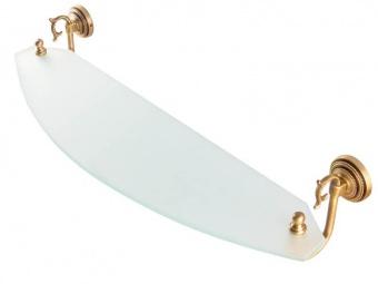 Полочка стеклянная 70 см Versace (бронза)