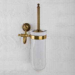 Туалетный ершик настенный Versace (бронза/латунь/керамика)