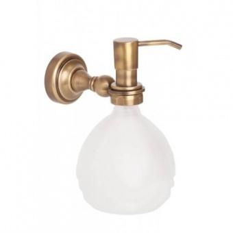 Дозатор для жидкого мыла настенный Alis Richmond (бронза/латунь/матовое стекло)R 217040