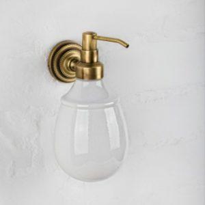 Дозатор для жидкого мыла настенный Versace (бронза/керамика)