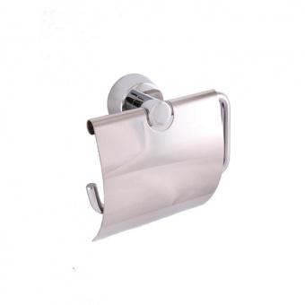 Держатель для туалетной бумаги с крышкой Welle (хром)