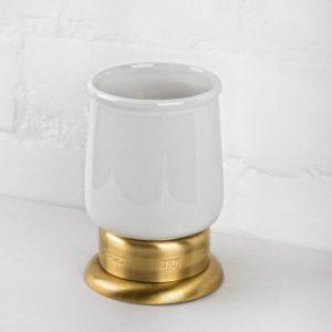 Стакан для зубных щеток настольный Versace (бронза/керамика)
