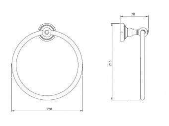 Кольцо для полотенец Alis Richmond (бронза)R 217007