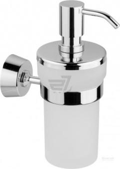 Дозатор для жидкого мыла настенный Welle (хром)