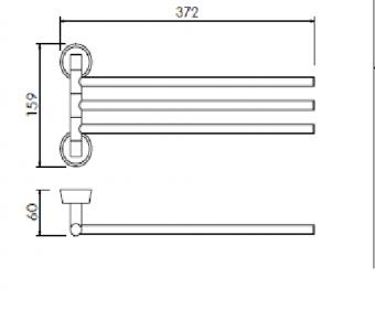 Вешалка тройная Welle (хром)