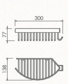 Полка прямая настенная Welle (хром)